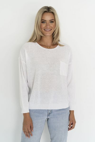 Humidity Novah Jumper In White