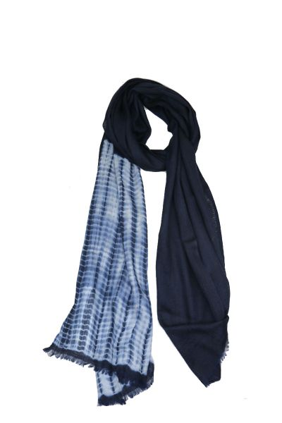 Humidity Tiedye Scarf In Navy