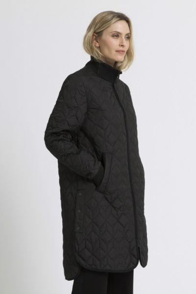 Ilse Jacobsen Padded Quilt Coat In Black