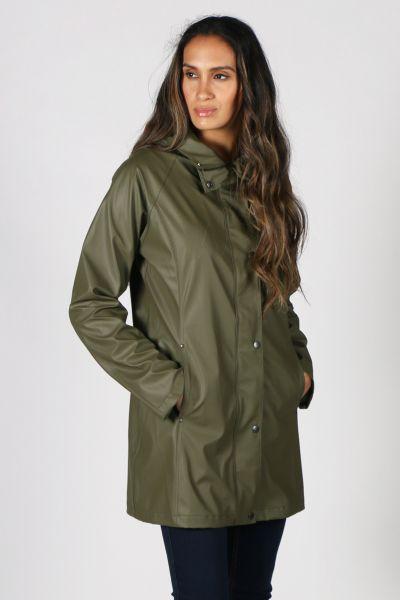 Ilse Jacobsen Hooded Raincoat In Army