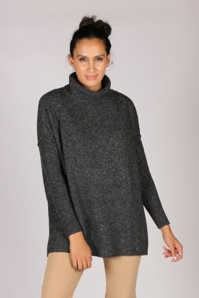 LD & Co Fleck Jumper In Charcoal