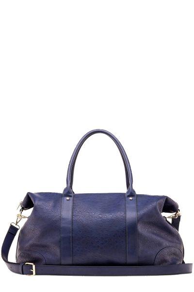 Alexis Ostrich Weekender Bag By Louenhide In Navy