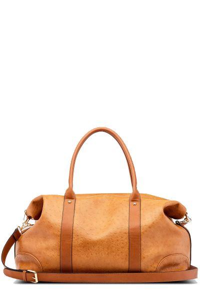 Alexis Ostrich Weekender Bag By Louenhide In Nutmeg