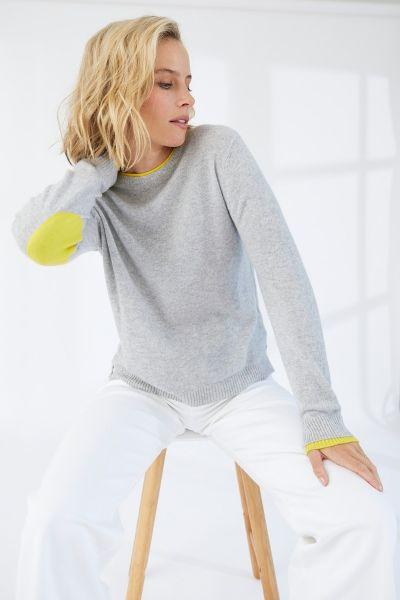Mia Fratino Sara Patch Jumper In Grey