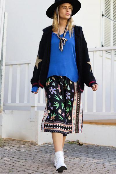 Me369 Hailey Skirt In Black