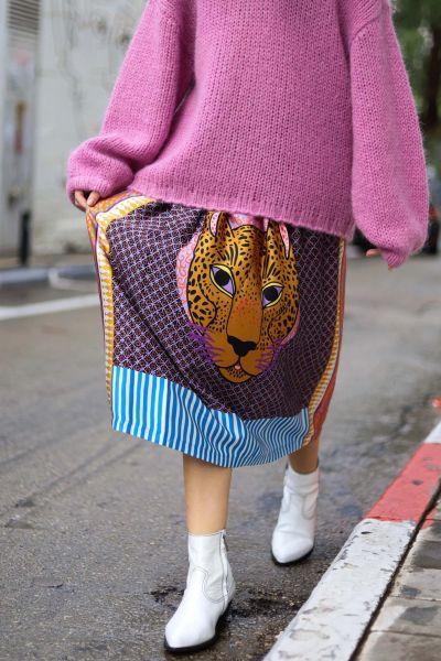 Me369 Hailey Skirt In Purple