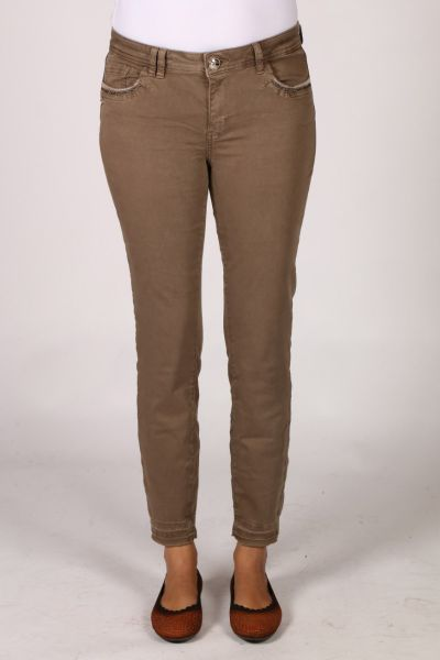 Mos Mosh Jewel Pant In Taupe