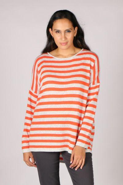 Namastai Stripy Jumper In Orange