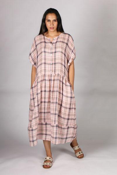 POL Pink Checkers Dress
