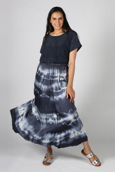 Ridley Tie Dye Skirt In Navy