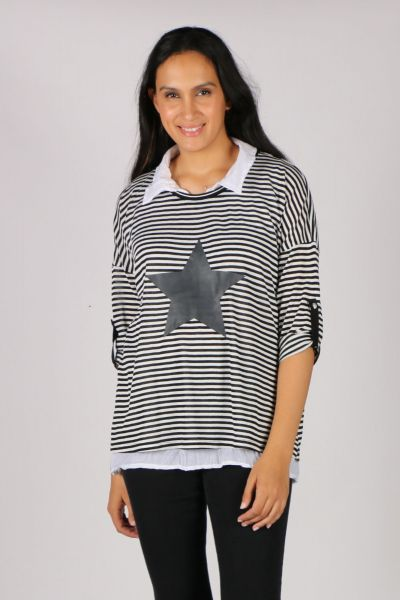 Threadz Star And Stripes 2 In 1 Top
