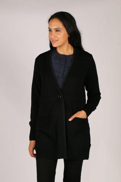 Verge Cassidy Cardigan In Black
