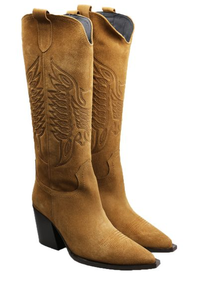 Given Cowboy Boots By Vienty In Tan