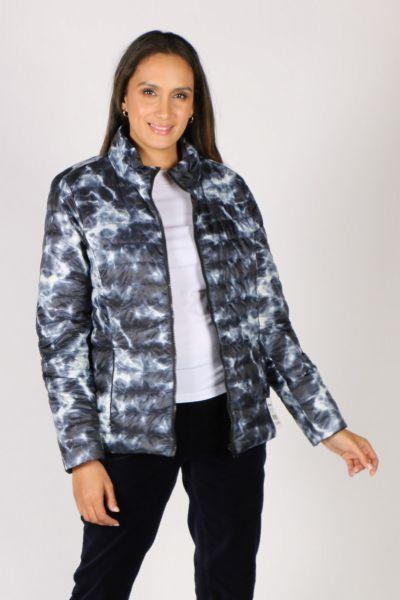 Sabena Reversible Hooded Puffer Jacket In Marble