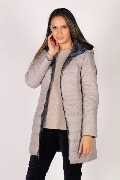 Sabena Reversible Hooded Puffer Coat In Spot