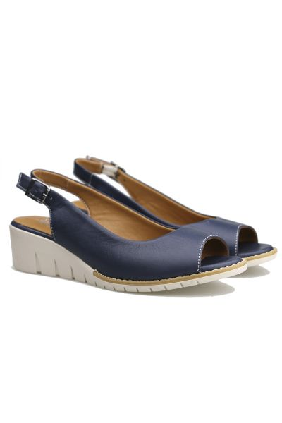 Abby Wedge By Sala In Navy