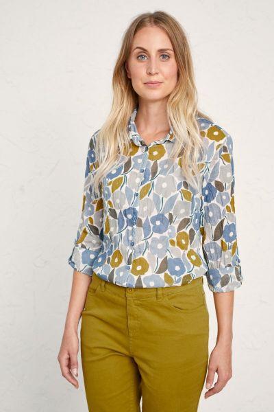 Seasalt Larissa Shirt In Chalked Blooms Wild Pansy