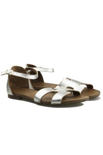 Ankle Strap Platinum Sandal By Wave
